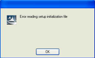 Installation Error: Error reading Setup Initialization File